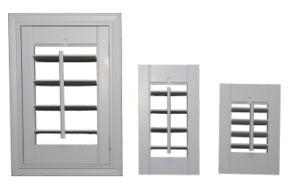 examples showing the different louver sizes